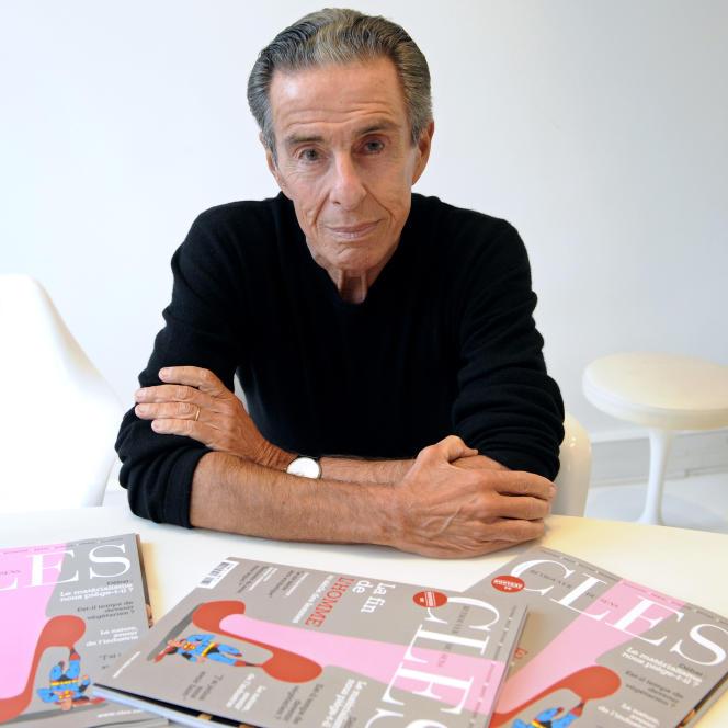 Le journaliste et écrivain français, Jean-Louis Servan-Schreiber, en 2010 à Paris.