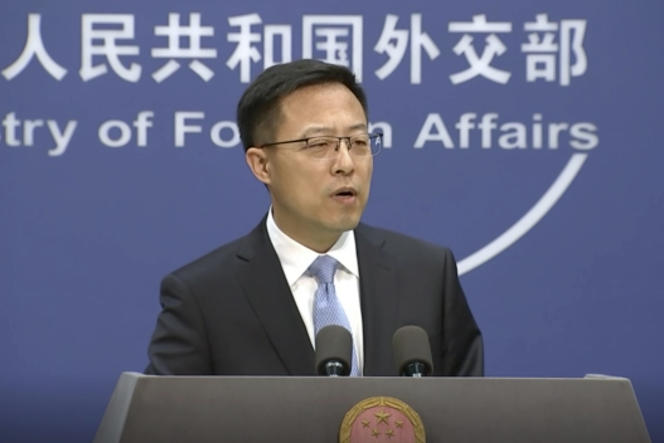 Le porte-parole du ministère chinois des Affaires étrangères, Zhao Lijian, lors d'un briefing à Pékin, le 17 novembre 2020.