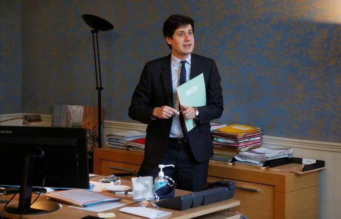 Le ministre de l'agriculture, de l'alimentation et des forêts, Julien Denormandie, àParis, le 1erdécembre.
