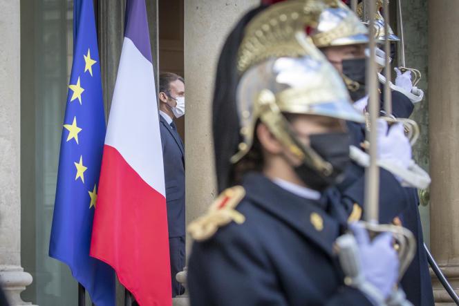 Emmanuel Macron, président de la République au palais de l'Elysée à Paris le 1er décembre.