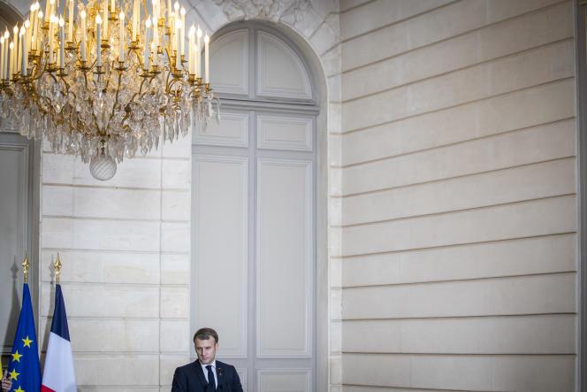 Emmanuel Macron, président de la République, au Palais de l'Elysée à Paris, le 1er décembre.