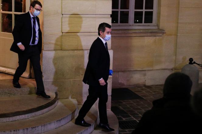Gérald Darmanin, à Matignon, à Paris, le 29 novembre.