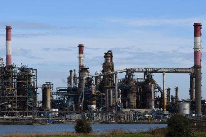 Raffinerie Total en France, en janvier 2020.