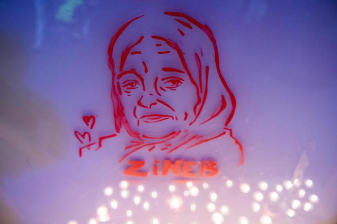 Hommage à Zineb Redouane, le 1er décembre 2019, à Marseille.