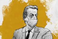 Nicolas Sarkozy lors du procès dit des « écoutes », au tribunal correctionnel de Paris, le 30 novembre.