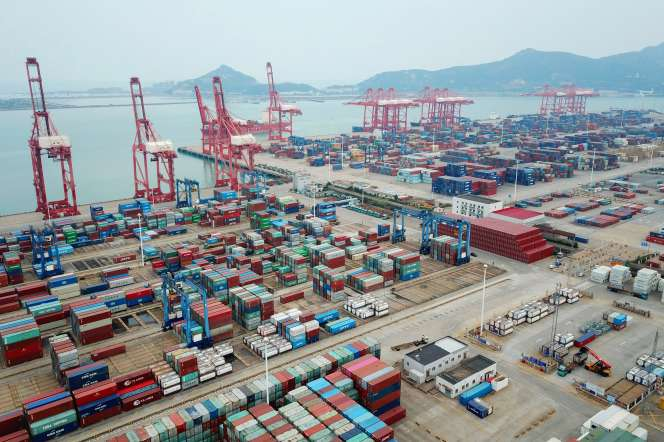 Des conteneurs au port de Lianyungang (Jiangsu), dans l'est de la Chine, en octobre 2020.