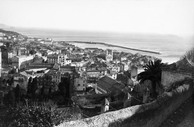 Vue de Bastia, au début du XXesiècle.