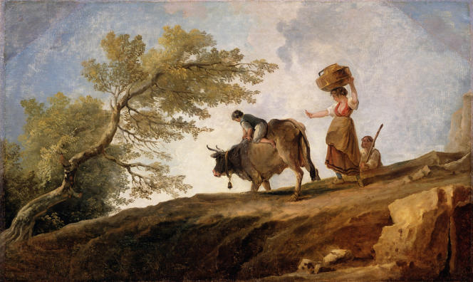 Huile sur toiled'Hubert Robert (1733-1808).