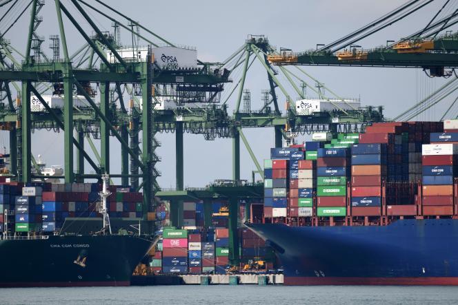 Dans le port de Singapour, le 11 novembre 2020.