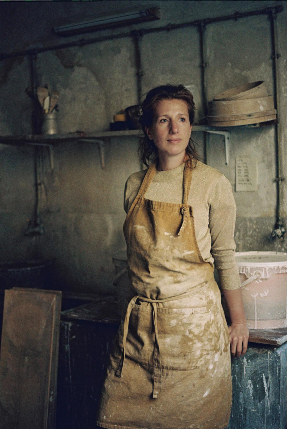 Marion Graux, le 26 novembre,dans son atelier à Paris.