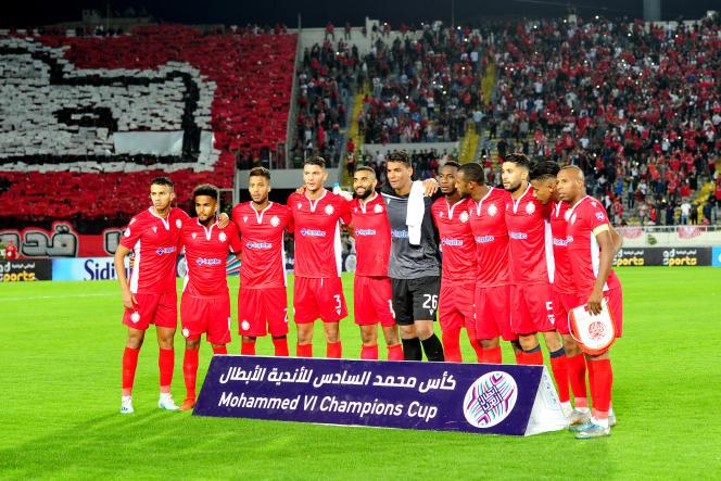 L'équipe du Wydad Athletic Clubavant le match de la coupe Mohammed VI l'opposant au Raja Club Atletic, le 2 novembre 2019 à Casablanca.