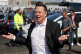 Elon Musk, le patron de Tesla, sur le chantier de l'usine de Grünheide, près de Berlin, le 3 septembre.