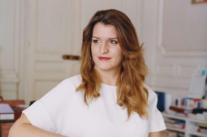 Marlène Schiappa, dans son bureau du ministère de l'intérieur, le 26novembre.