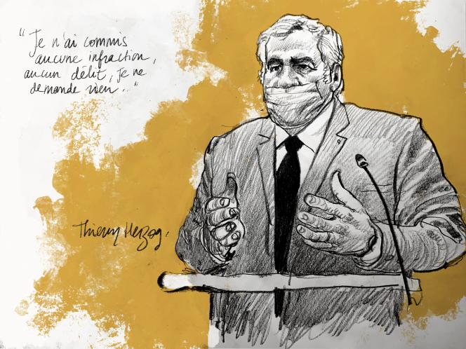 Me Thierry Herzog, avocat de l'ancien président Nicolas Sarkozy, s'est défendu jeudi3décembre devant le tribunalcorrectionnel de Paris.