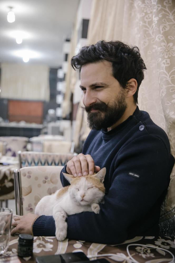 Allan Kaval, à Kobané, en Syrie, en 2017.