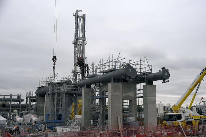 Le chantier de la centrale géothermique de Reichstett, le 13 novembre 2019.