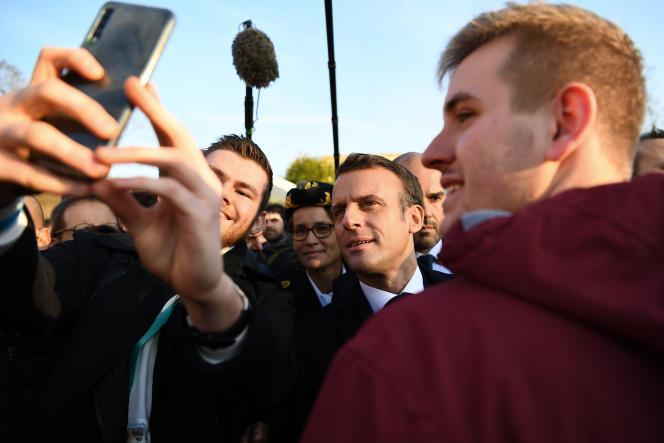 Emmanuel Macron, lors d'une visite à l'université d'Amiens, en novembre 2019.