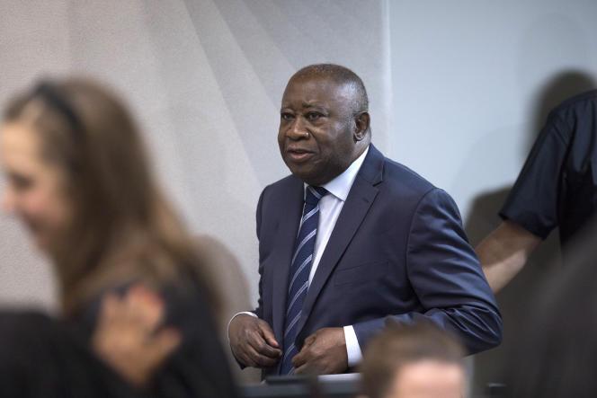 Laurent Gbagbo lors d'une audience à la Cour pénale internationale de La Haye, en janvier 2019.