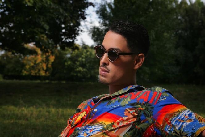 Le rappeur Lartiste, à Vincennes (Val-de-Marne), en août.