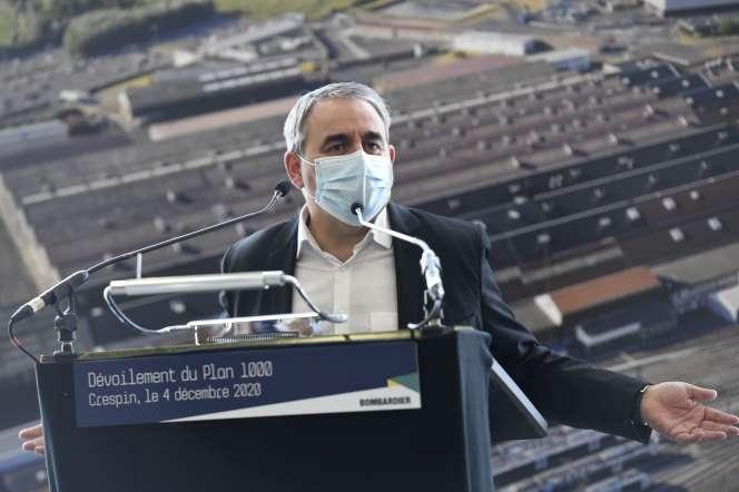 Le président de la région Hauts-de-France, Xavier Bertrand, à Crespin (Nord), le 4 décembre.