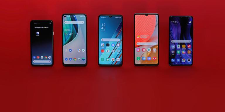 test comparatif smartphones 350 euros 2020