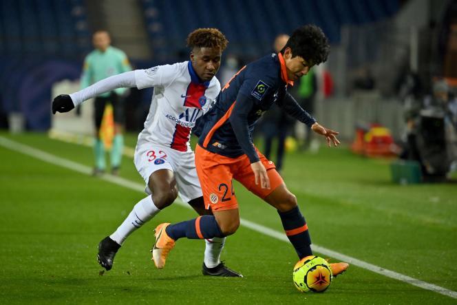 Lors de la rencontre de Ligue1 entre le Paris-Saint-Germain et Montpellier, au stade de la Mosson, le 5décembre.
