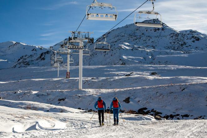 Lors du confinement, sur le domaine de Val Thorens (Savoie), le 25 novembre.