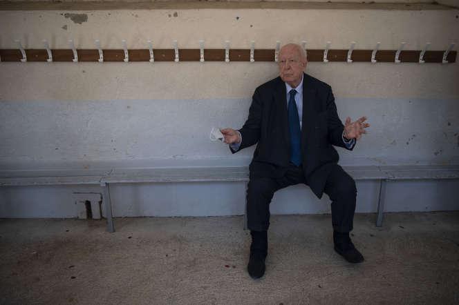 L'ex-maire de Marseille, Jean-Claude Gaudin, le 28 juin, jour du second tour des municipales.