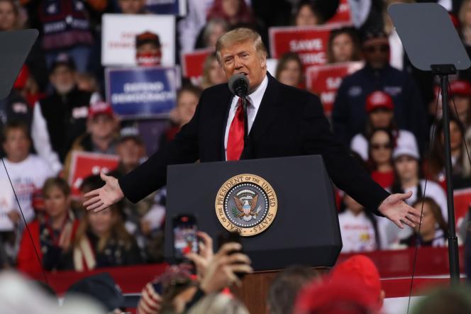 Donald Trump lors d'un meeting à Valdosta, dans l'Etat de Géorgie, le 5décembre.