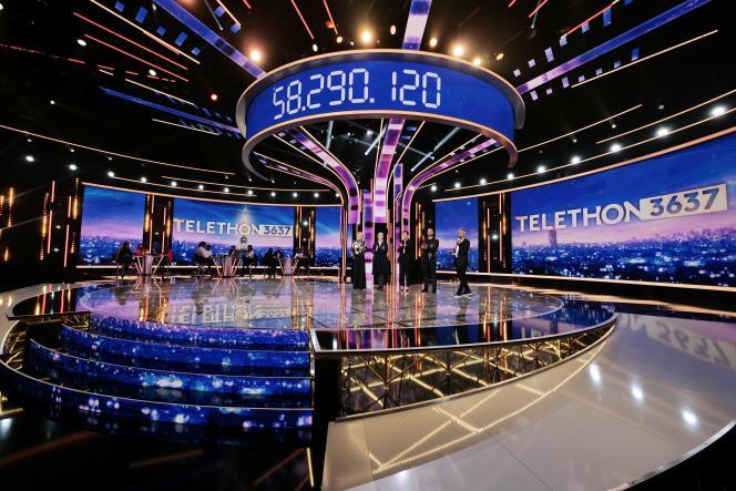 Le compteur affiche 58 290 120 euros à la fin de la 34e édition du Téléthon, dimanche 6 décembre 2020.
