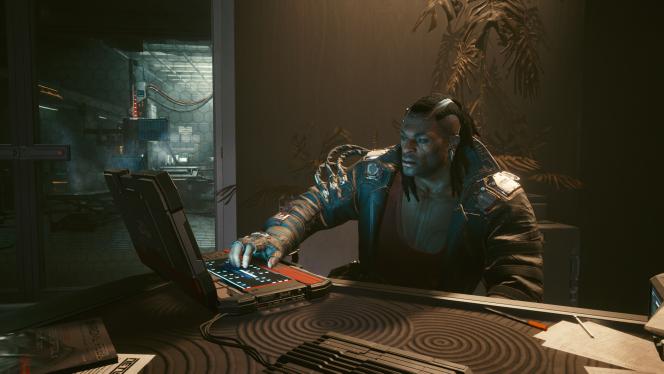Un personnage de«Cyberpunk 2077» sur PC, probablement en train d'essayer de se faire rembourser le jeu cinquante-sept ans plus tard sur le portail mis en place par Sony.