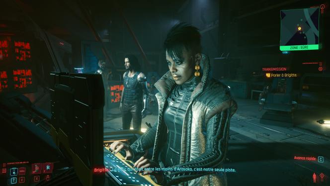 Jat Player sur sa console 2013 (Cyberbunk 2077)
