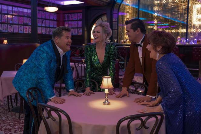 James Corden, Nicole Kidman, Andrew Rannells et Meryl Streep dans «The Prom», de Ryan Murphy.