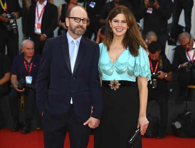 Steven Soderbergh et son épouse Jules Asner, à Venise, en Italie, en septembre 2019.