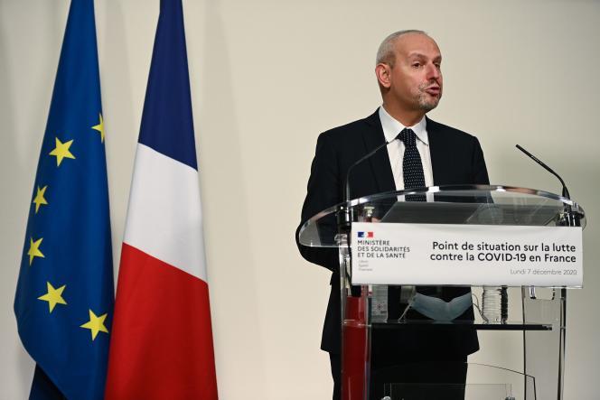 Jérôme Salomon lors de son point presse du 7 décembre.