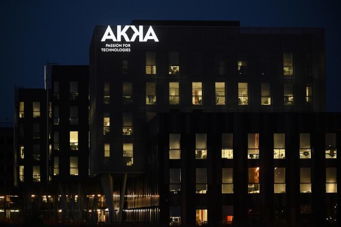 Le site d'Akka Technologies, à Blagnac (Haute-Garonne), le 6 novembre.