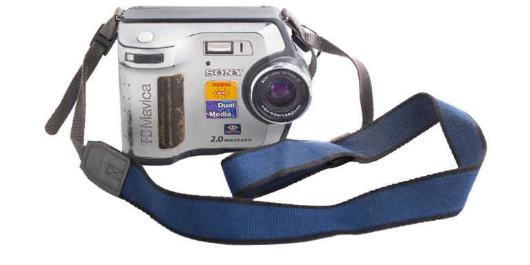 FD Mavica camera that was assigned by Miguel Angel López Velasco to the photojournalists of police information in the Notiver. López aka