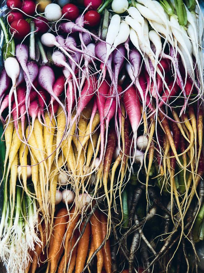 Extrait du « Végétal », de William Ledeuil. Radis multicolores.