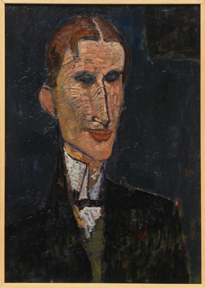 «Viking Eggeling» (1916), d'Amedeo Modigliani (1884-1920).Huile sur toile, 65 × 46 cm. LaM, Villeneuve-d'Ascq, ancienne collection Roger Dutilleul.