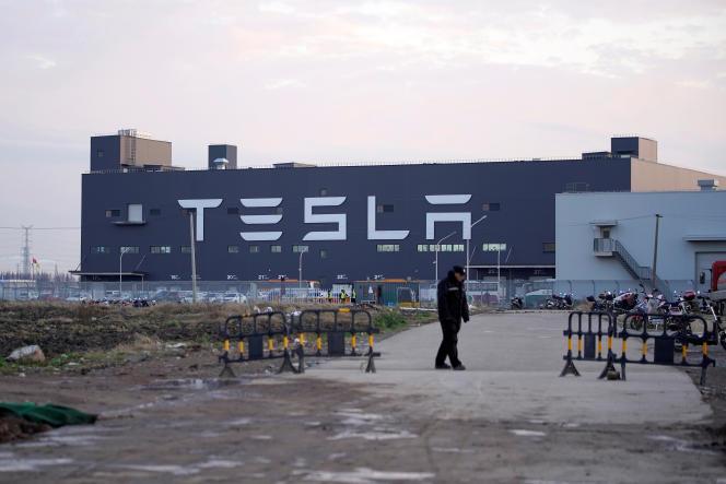 L'usine Tesla de Shanghaï, en Chine, le 7 janvier 2020.