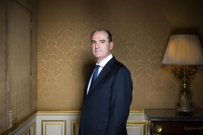 Jean Castex, premier ministre, photographié dans ses bureaux à Matignon le 7 décembre.