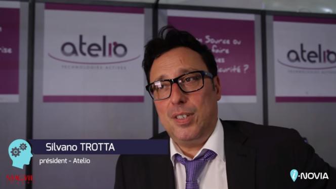 Silvano Trotta présenté comme président de sa société d'infrastructures de télécommunication d'entreprise, Atelio, en 2014.