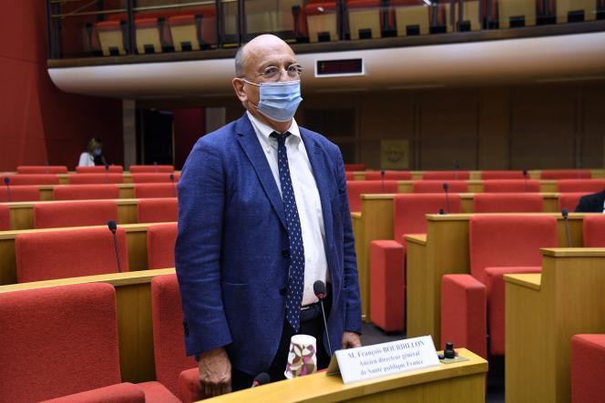 L'ex-directeur de Santé publique France,François Bourdillon, lors de son audition par la commission d'enquête sénatoriale, le 16 septembre.
