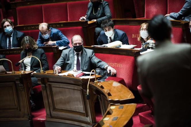 Eric Dupond-Moretti, le 8 décembre, à l'Assemblée nationale.