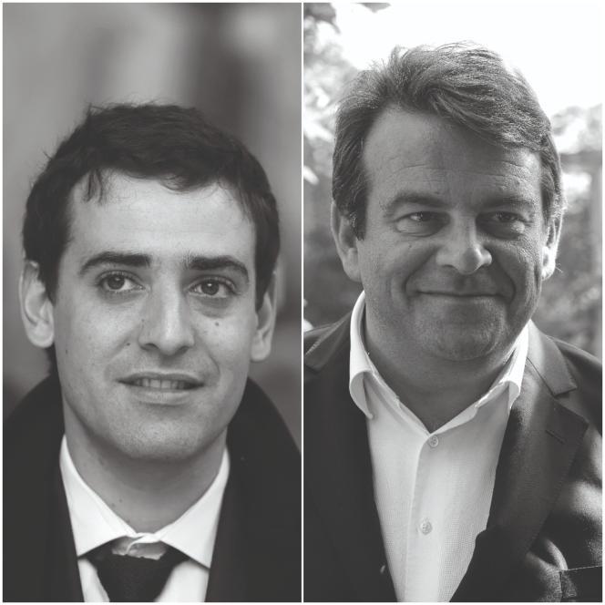 Les conseillers élyséens Stéphane Séjourné (à gauche) etThierry Solère.