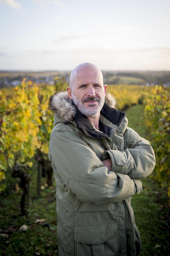Etienne Davodeau, chez lui à Rablay-sur-Layon (Maine-et-Loire), le 26 octobre 2020.