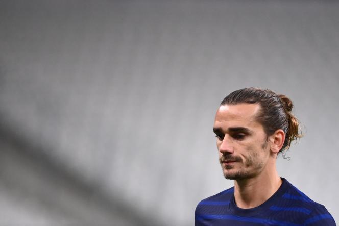 L'attaquant français Antoine Griezmann, au Stade de France à Saint-Denis, le 11 novembre.