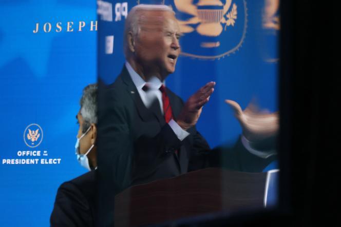 Joe Biden lors d'une conférence de presse à Wilmington (Delaware), le 8 décembre.