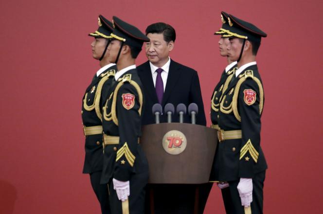 Le président chinois Xi Jinping lors d'une cérémonie pour la victoire contre le Japon durant la Seconde Guerre mondiale, le 2 septembre à Pékin.