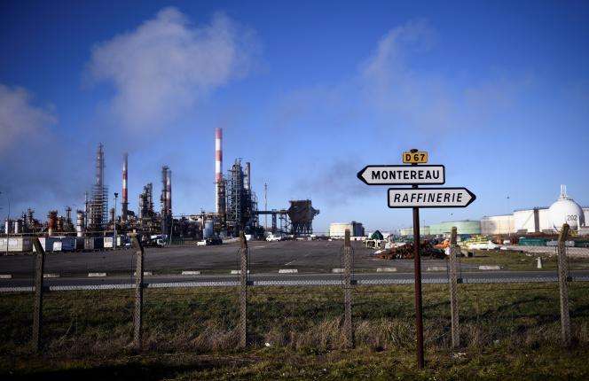 La raffinerie de Grandpuits, en Seine-et-Marne, le 6 janvier 2020.